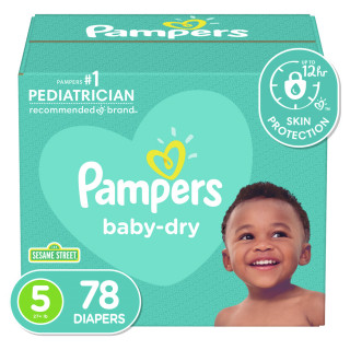 Panales pampers baby dry s5 super pack x 78