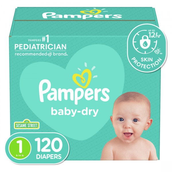 Panales pampers s1 super pack x 120