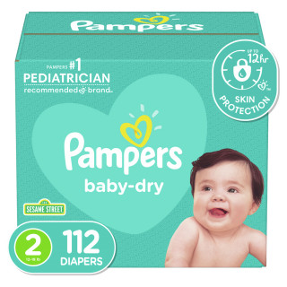 Panales pampers baby dry s2 super x112