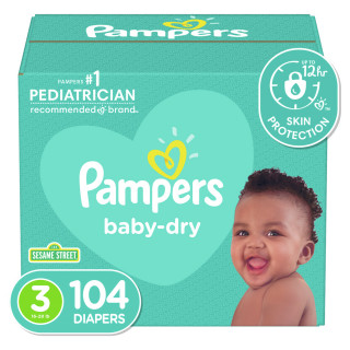 Panales pampers baby dry s3 super x104