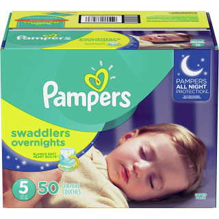 Panales pampers swaddlers overnights talla 5 x50