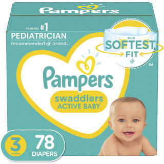 Panales pampers swaddlers talla 3 x 78