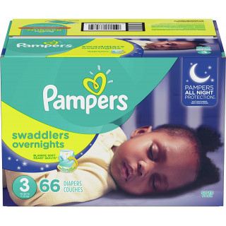 Panales pampers swaddlers overnights talla 3x66