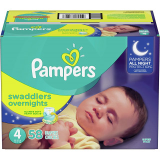 Panales pampers swaddlers overnights talla 4x58
