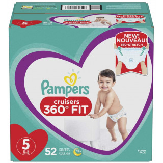 Panales pampers cruisers 360 fit talla 5 x 52