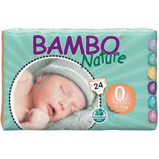 Panales bambo nature prematuro talla 0 1 a 3kg
