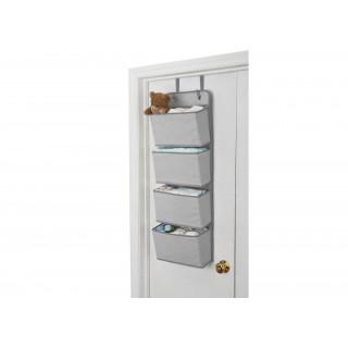 Organizador gris para puerta