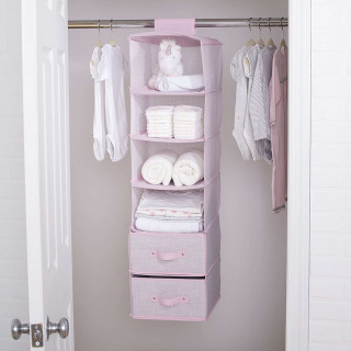Organizador rosado para armario