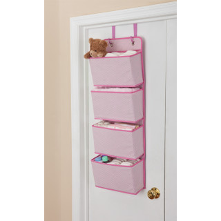 Organizador rosa para puerta