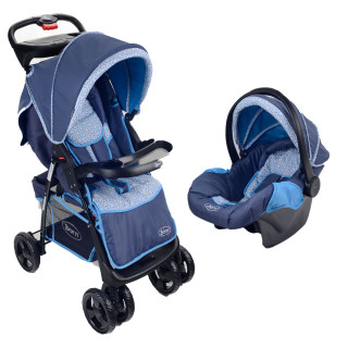 Born coche zeal travel system  sky.