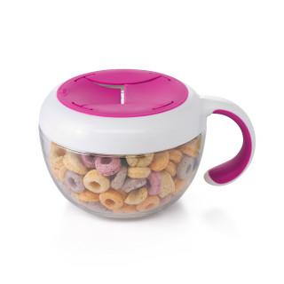 Envase para snack con tapa pink.