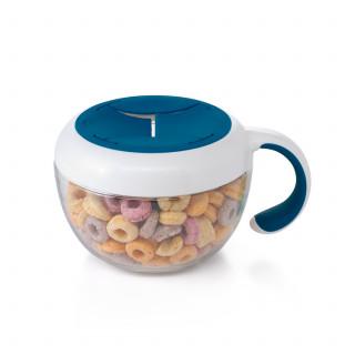 Envase para snack con tapa navy.