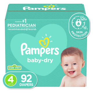 Panales pampers baby dry s4 super x92